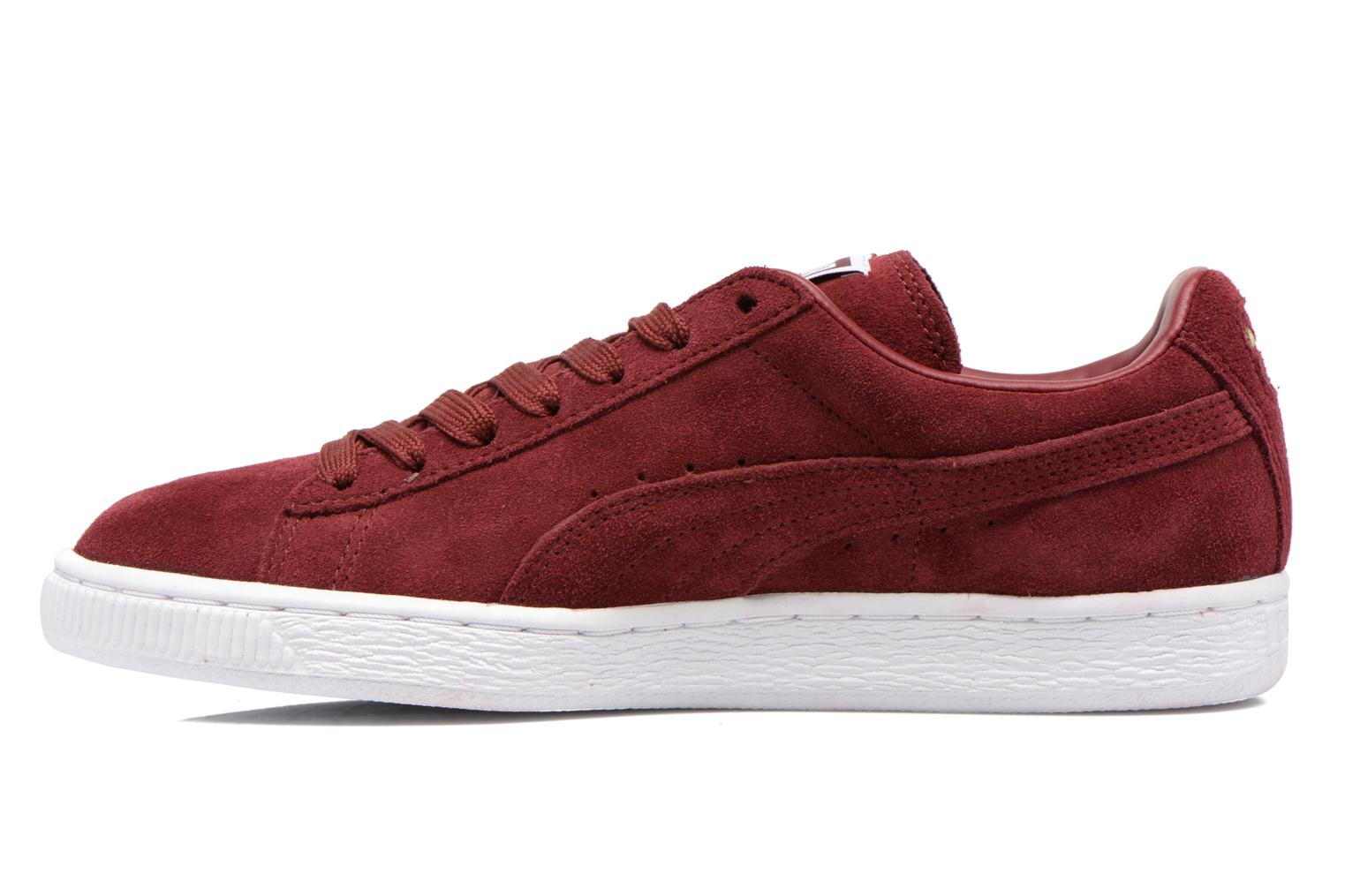 Trainers Puma Suede classic eco W Burgundy front view