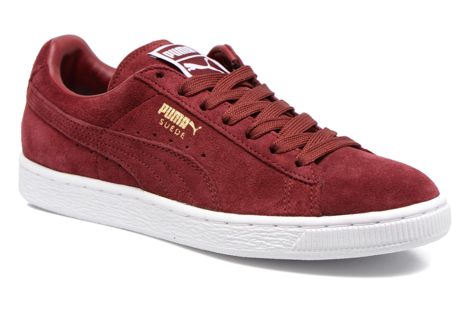Sneaker Puma Suede classic eco W weinrot detaillierte ansicht/modell