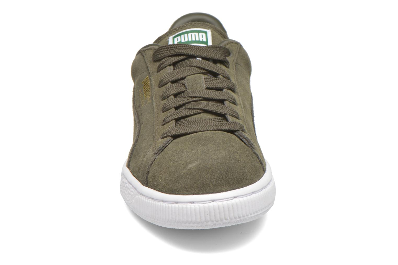 Sneaker Puma Suede classic eco W grün schuhe getragen