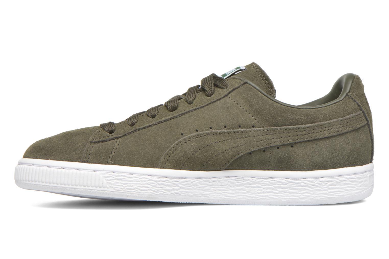 Sneaker Puma Suede classic eco W grün ansicht von vorne