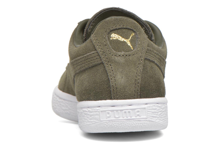 Sneaker Puma Suede classic eco W grün ansicht von rechts