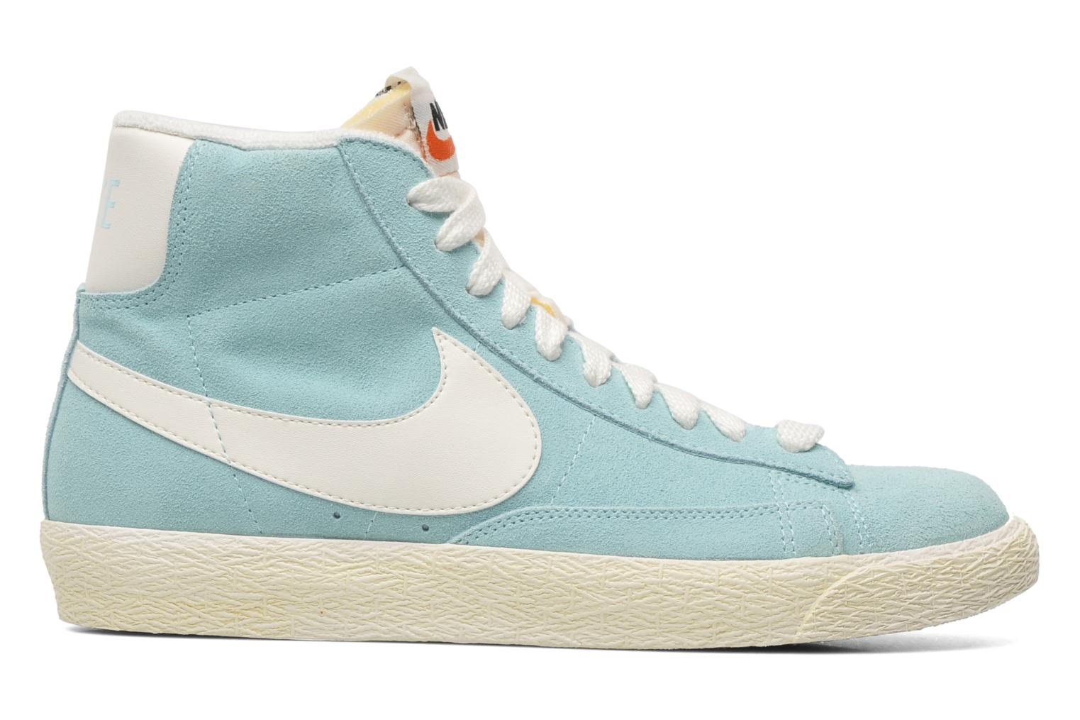 Trainers Nike Wmns Blazer Mid Suede Vintage Blue back view