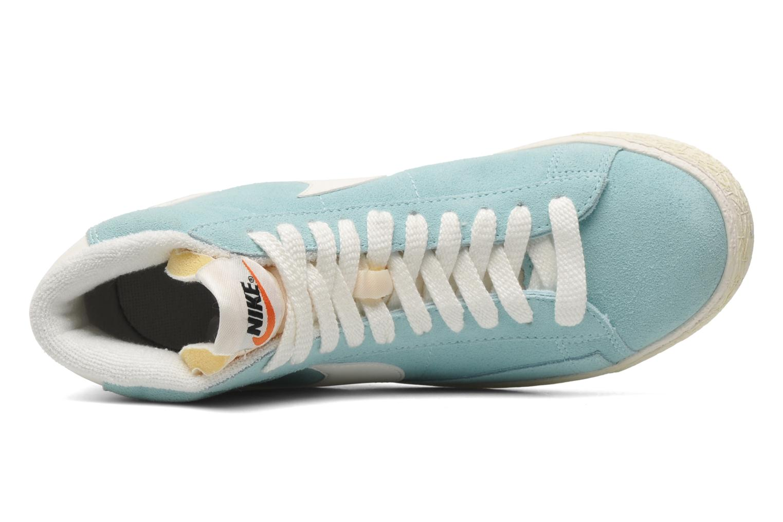 Trainers Nike Wmns Blazer Mid Suede Vintage Blue view from the left