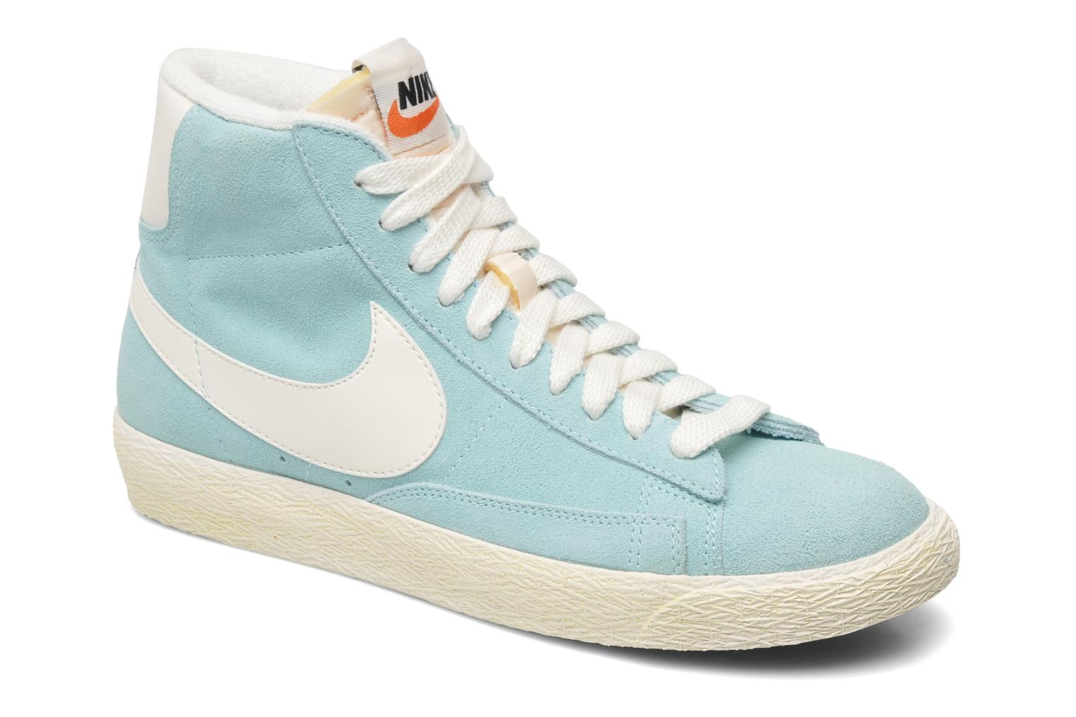 Trainers Nike Wmns Blazer Mid Suede Vintage Blue detailed view/ Pair view