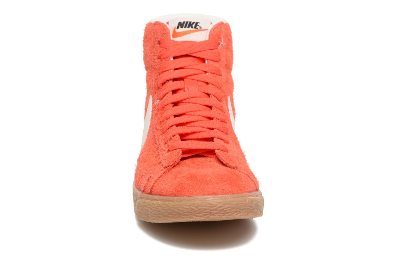 Sneaker Nike Wmns Blazer Mid Suede Vintage orange schuhe getragen