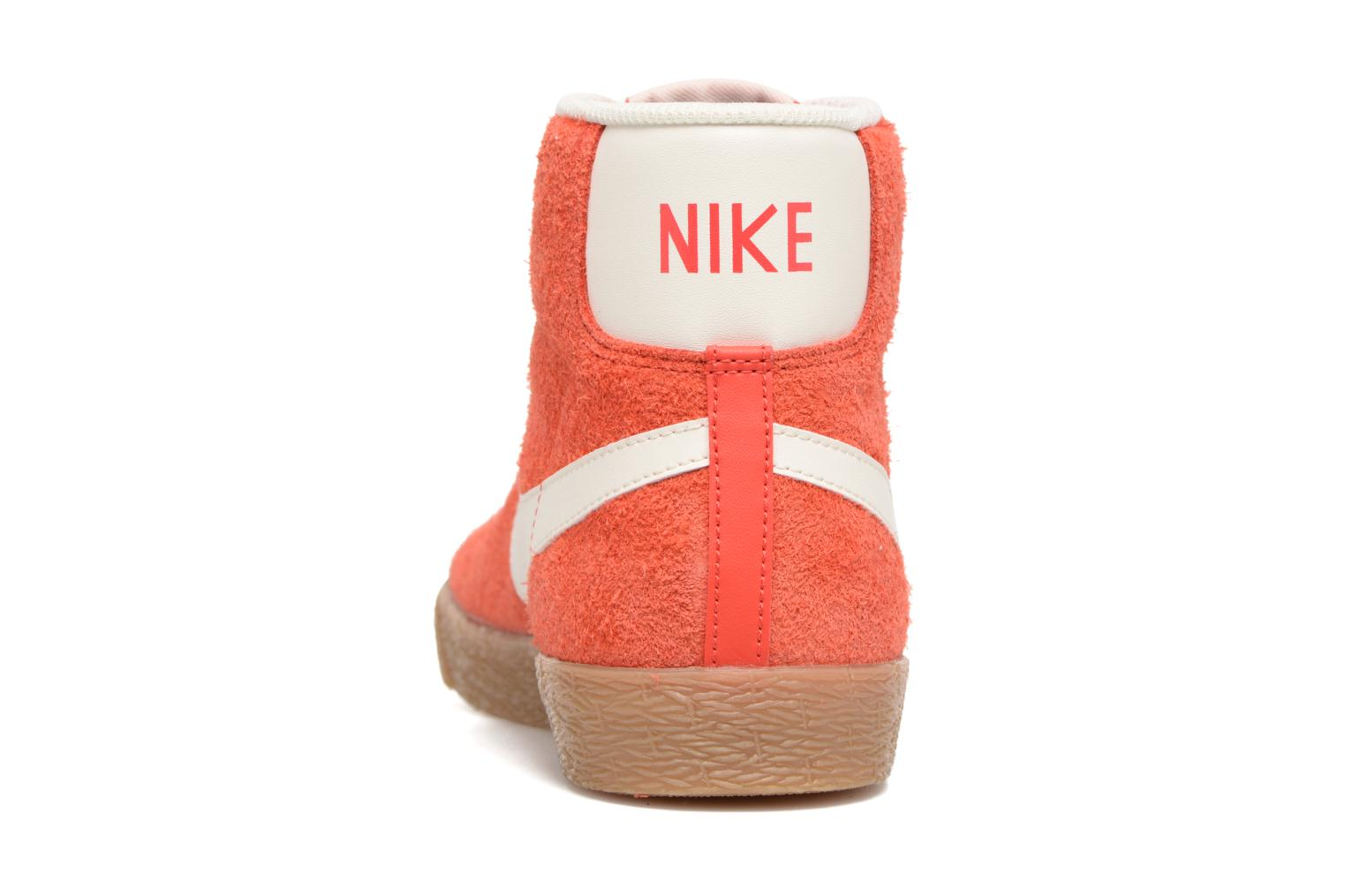 Trainers Nike Wmns Blazer Mid Suede Vintage Orange view from the right