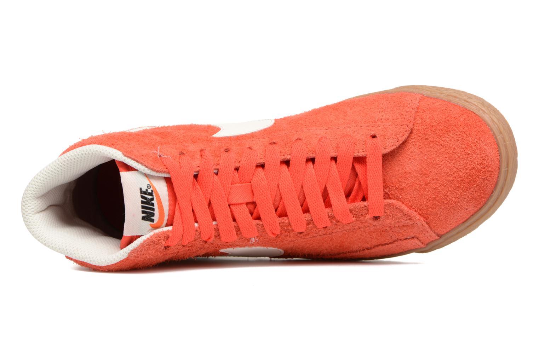Sneaker Nike Wmns Blazer Mid Suede Vintage orange ansicht von links
