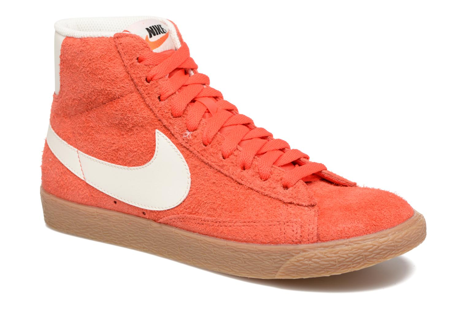 Trainers Nike Wmns Blazer Mid Suede Vintage Orange detailed view/ Pair view