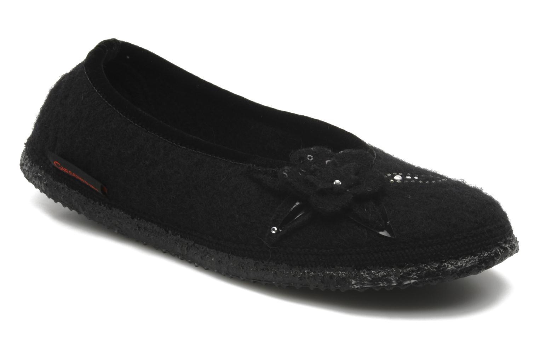 Hjemmesko Giesswein Lech Sort detaljeret billede af skoene