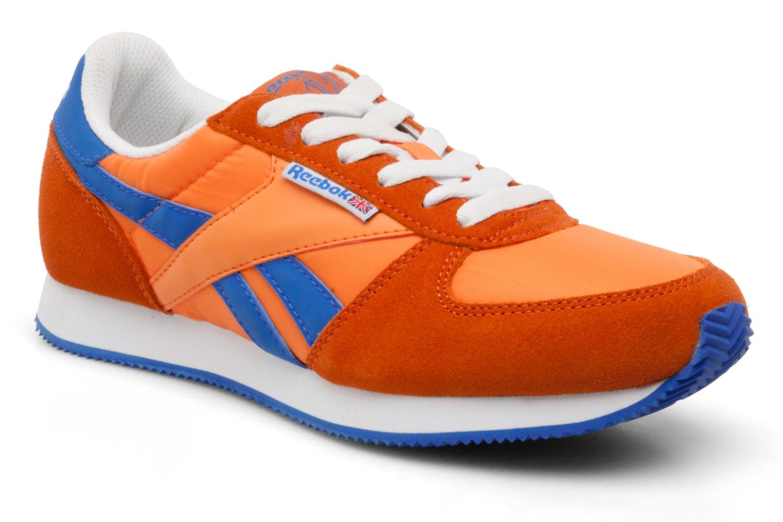 orange and blue reebok classics - 55