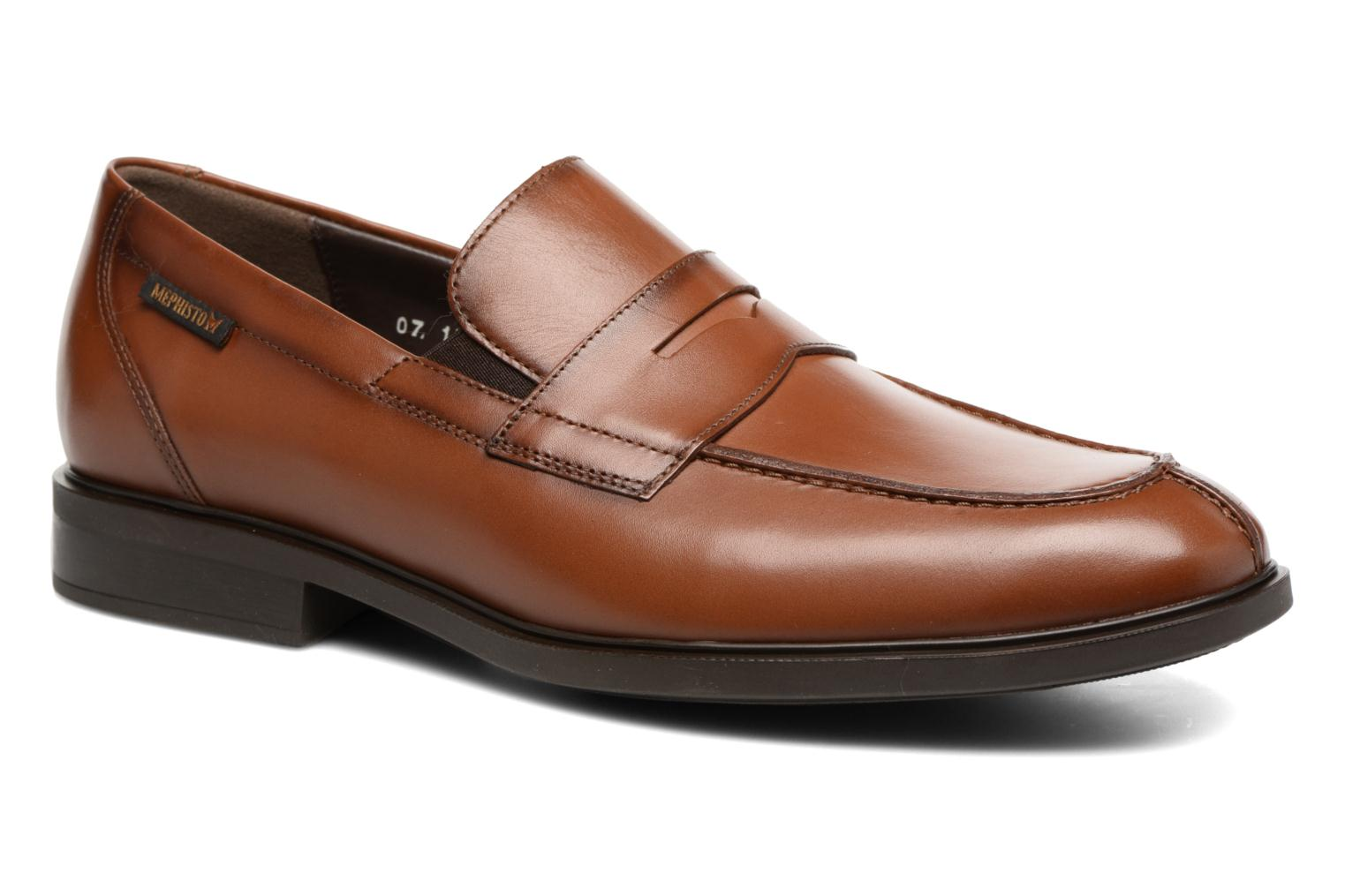 Loafers Mephisto Fortino Brown detailed view/ Pair view