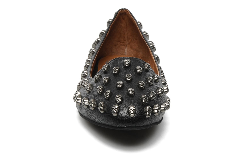 Loafers Jeffrey Campbell Skulltini Black model view