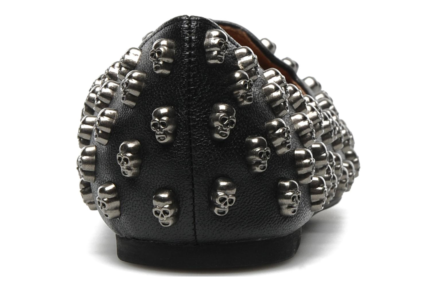 Loafers Jeffrey Campbell Skulltini Black view from the right