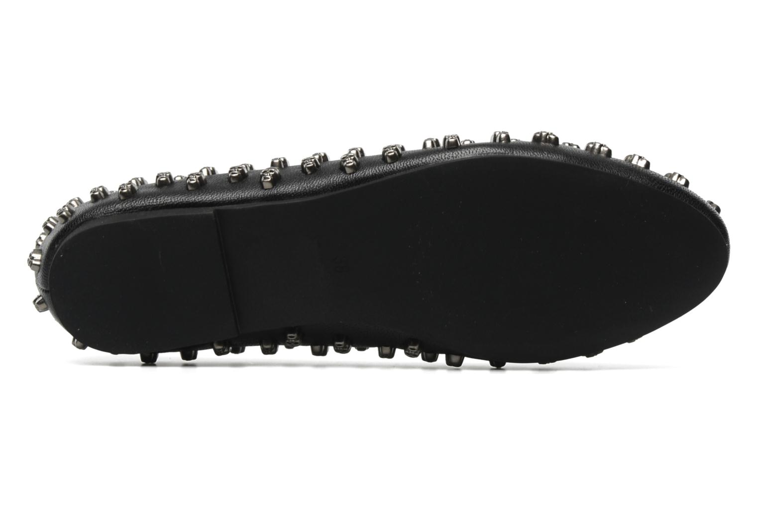 Loafers Jeffrey Campbell Skulltini Black view from above