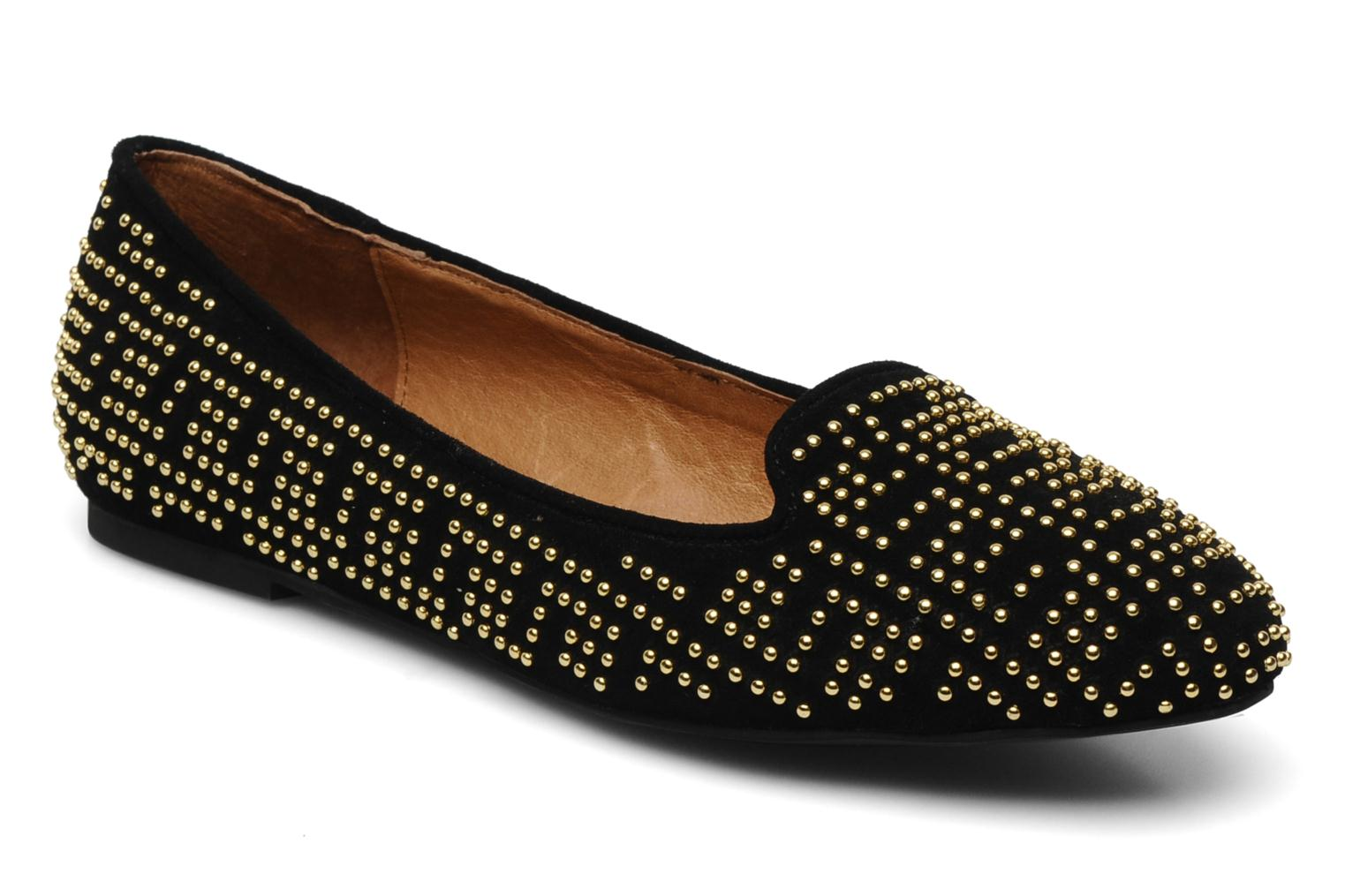 Loafers Jeffrey Campbell Tron Black detailed view/ Pair view