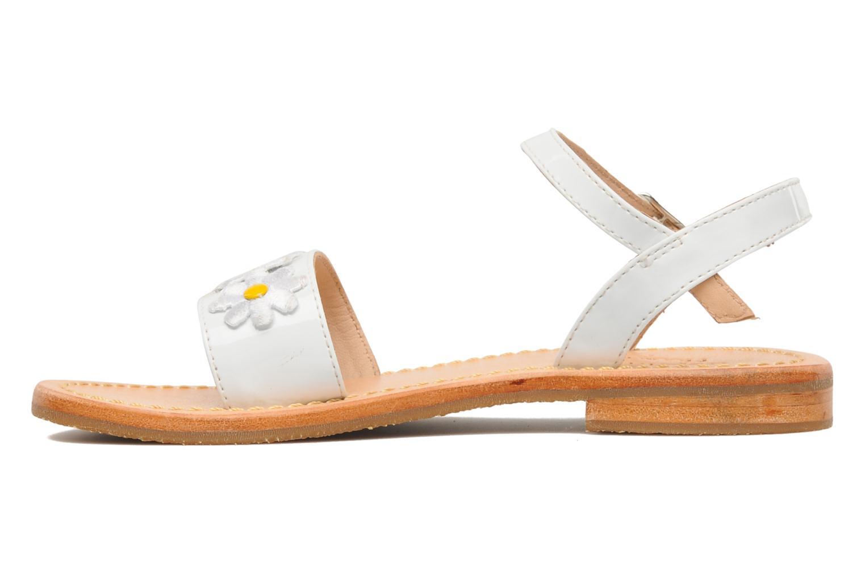 Sandals Mellow Yellow Mini Naisy White front view
