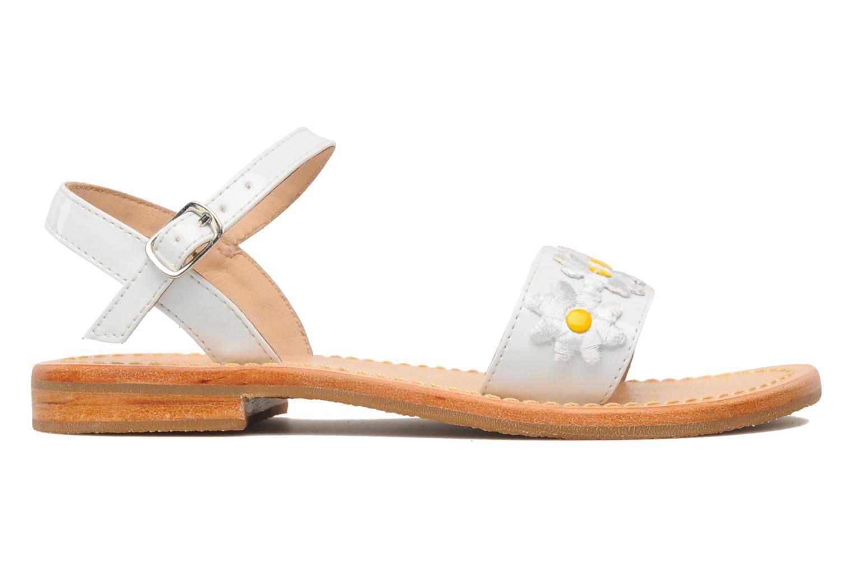 Sandalen Mellow Yellow Mini Naisy weiß ansicht von hinten