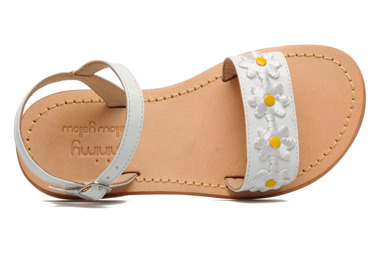 Sandalias Mellow Yellow Mini Naisy Blanco vista lateral izquierda