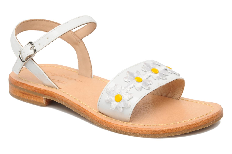 Sandals Mellow Yellow Mini Naisy White detailed view/ Pair view