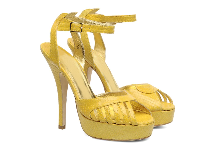 Sandals Terry de Havilland MARGUERITE Yellow 3/4 view