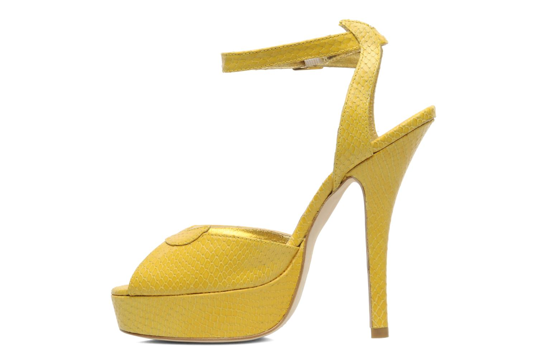 Sandals Terry de Havilland MARGUERITE Yellow front view