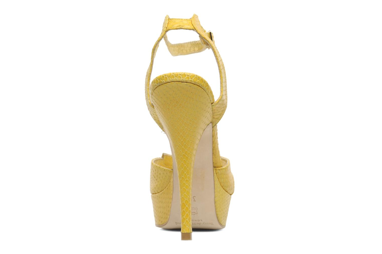 Sandals Terry de Havilland MARGUERITE Yellow view from the right