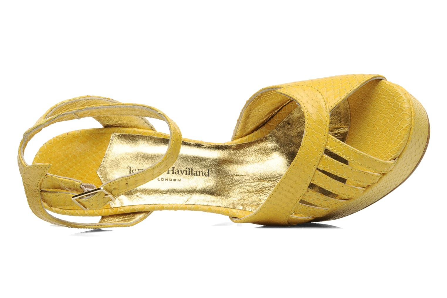 Sandals Terry de Havilland MARGUERITE Yellow view from the left