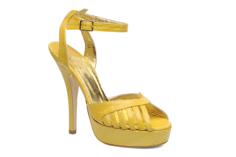 Sandales et nu-pieds Terry de Havilland MARGUERITE Jaune vue détail/paire