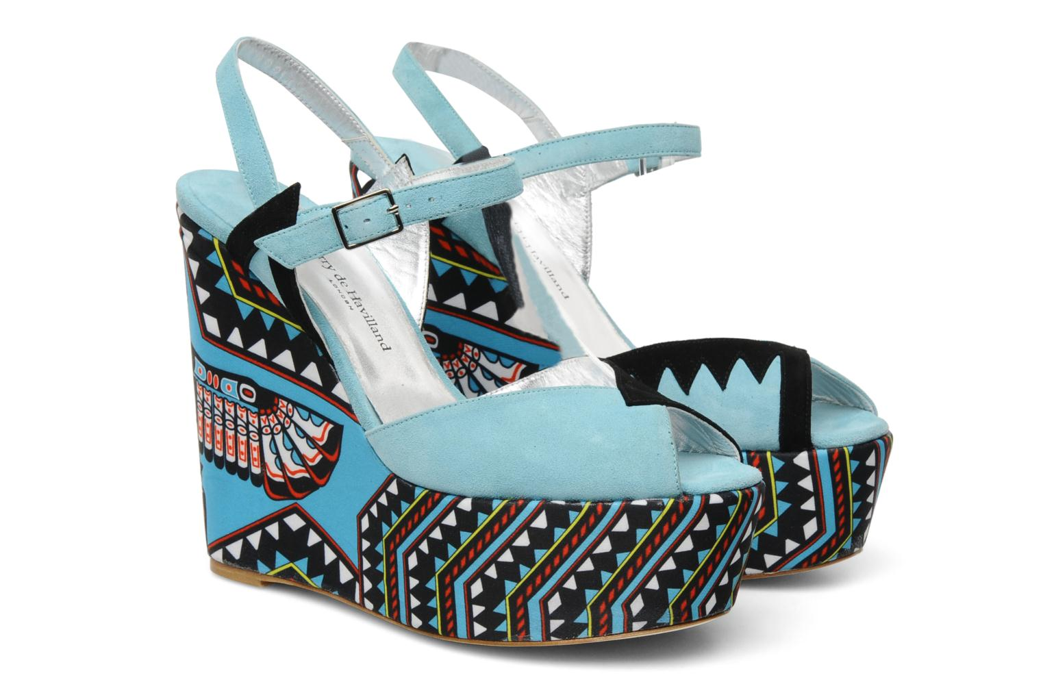 Sandals Terry de Havilland TOTEM Blue 3/4 view
