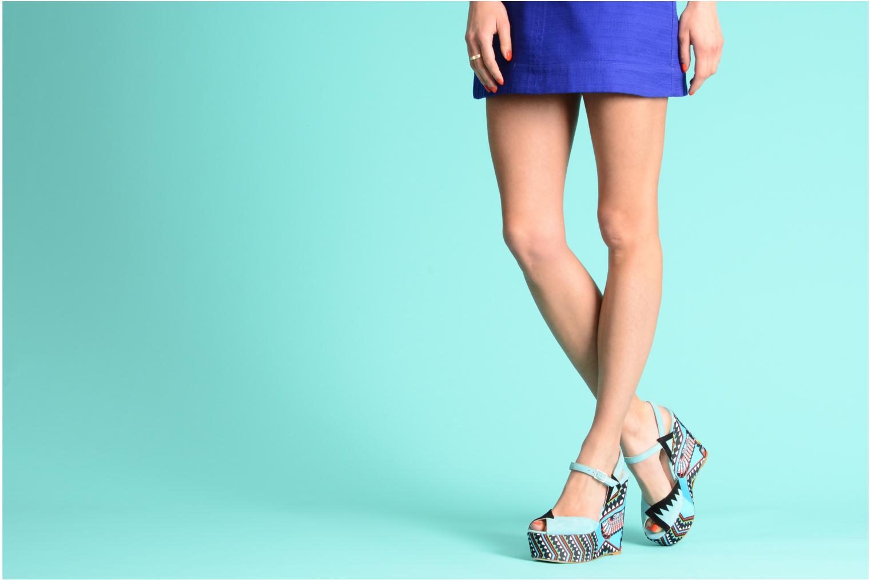 Sandales et nu-pieds Terry de Havilland TOTEM Bleu vue bas / vue portée sac