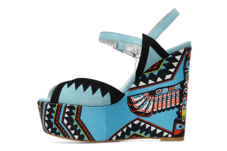 Sandales et nu-pieds Terry de Havilland TOTEM Bleu vue face