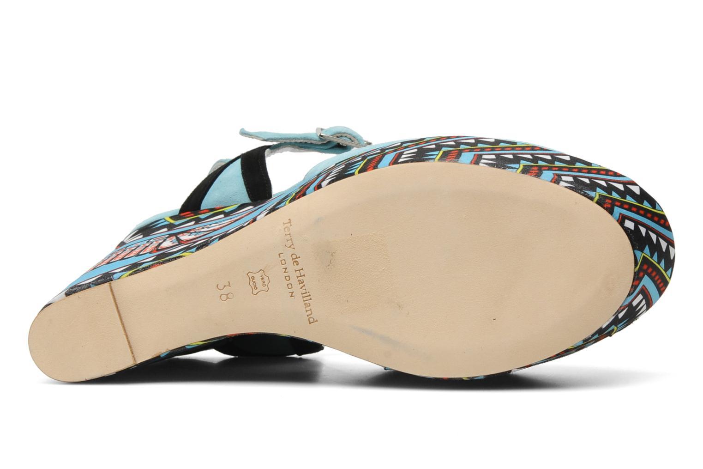 Sandales et nu-pieds Terry de Havilland TOTEM Bleu vue haut