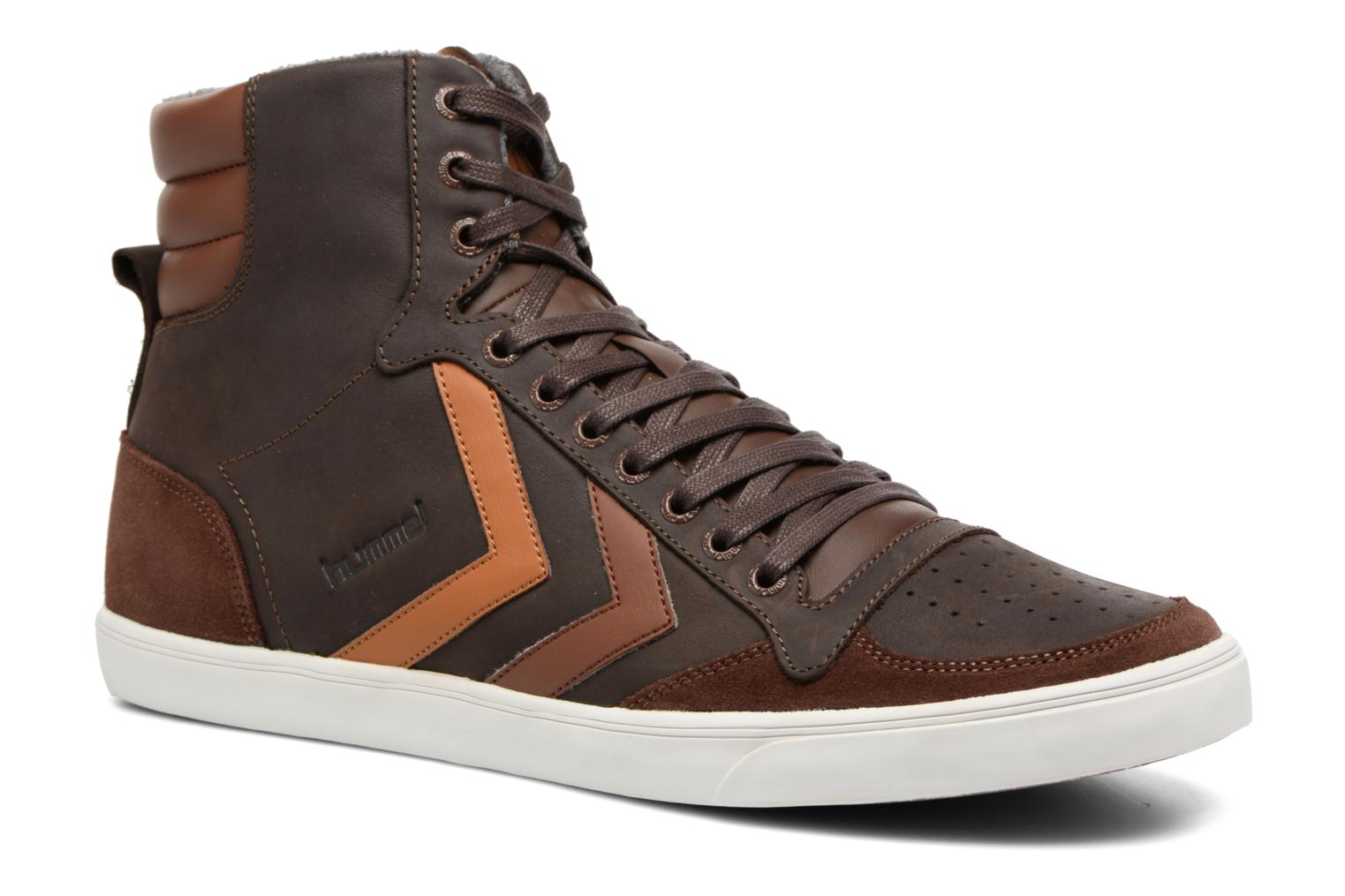 Baskets Hummel Slimmer Stadil Oiled High Marron vue détail/paire