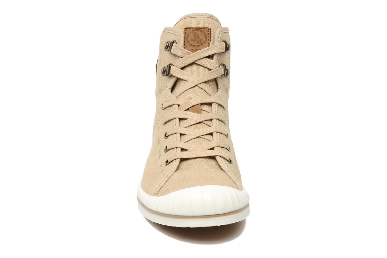 Chaussures à lacets Aigle Kitangiri Mid W Beige vue portées chaussures