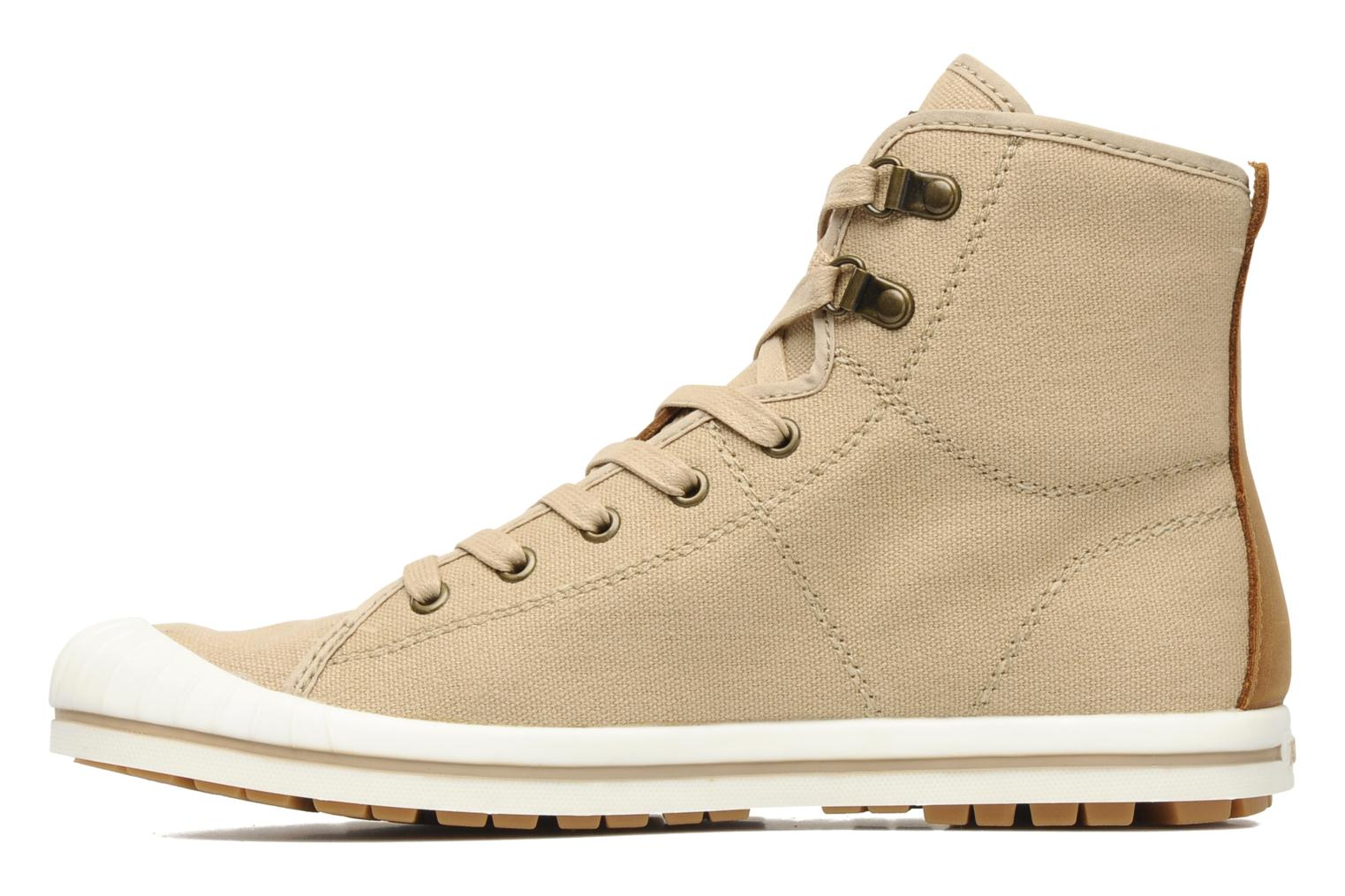Chaussures à lacets Aigle Kitangiri Mid W Beige vue face
