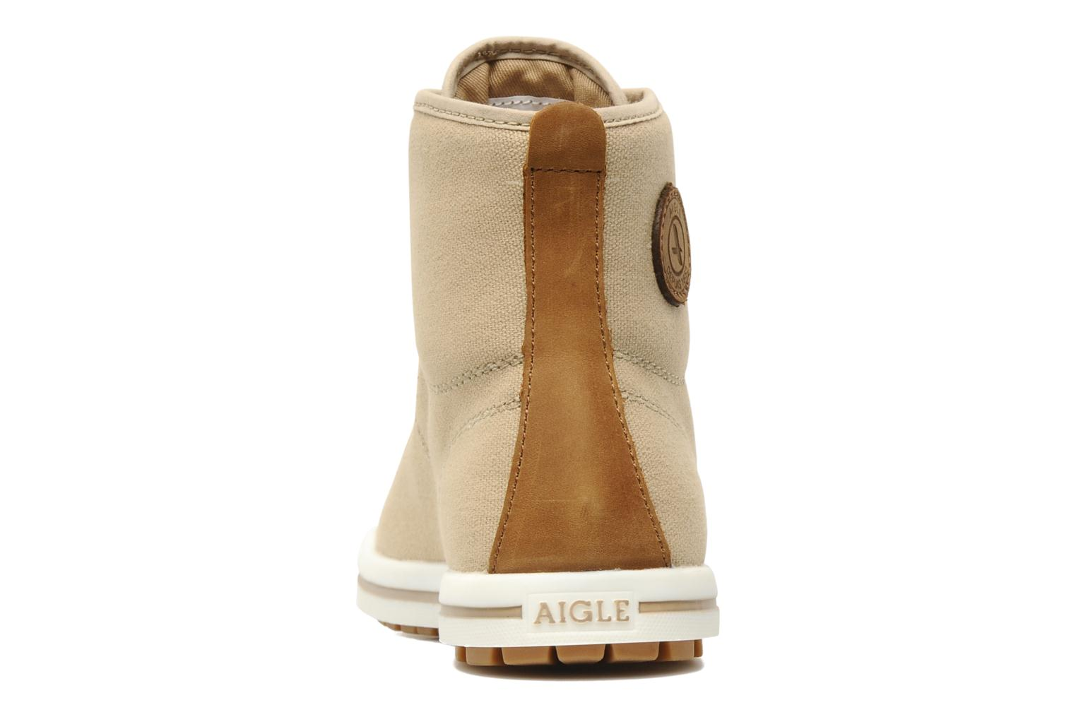 Lace-up shoes Aigle Kitangiri Mid W Beige view from the right