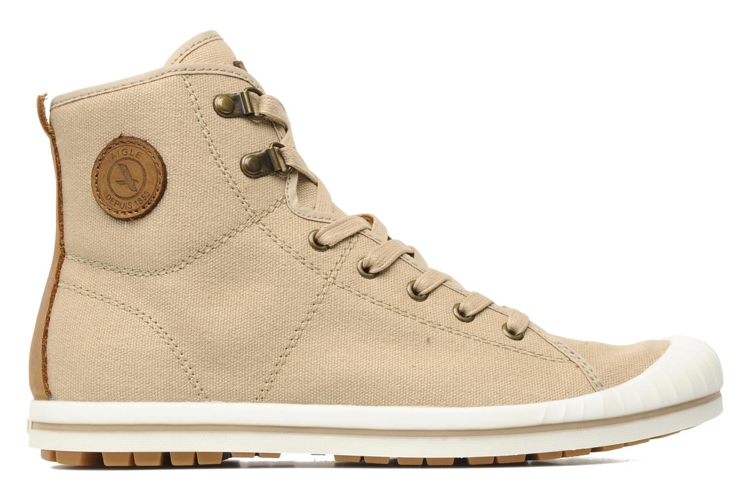 Lace-up shoes Aigle Kitangiri Mid W Beige back view