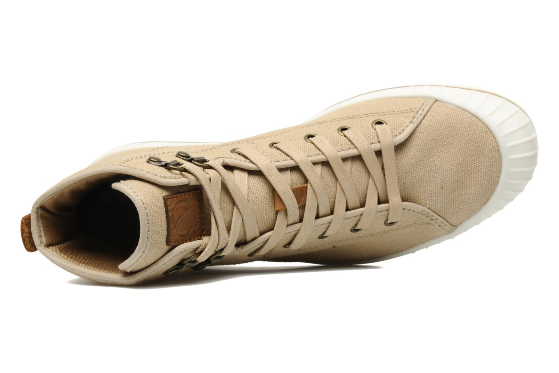 Chaussures à lacets Aigle Kitangiri Mid W Beige vue gauche