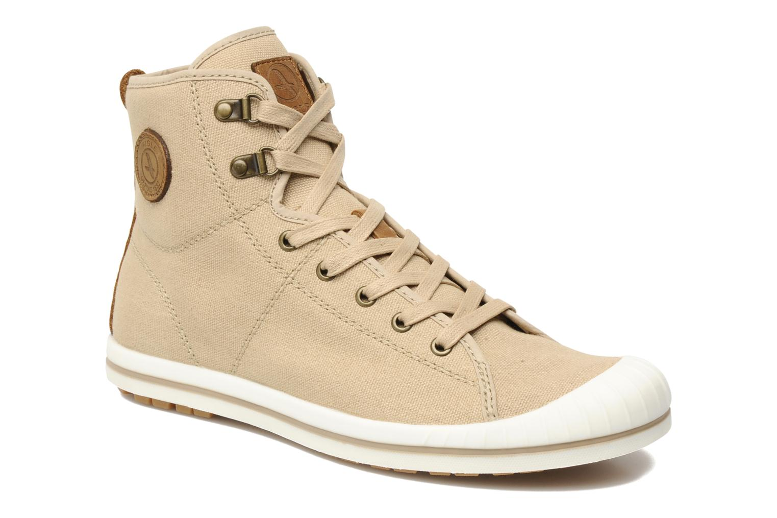 Lace-up shoes Aigle Kitangiri Mid W Beige detailed view/ Pair view