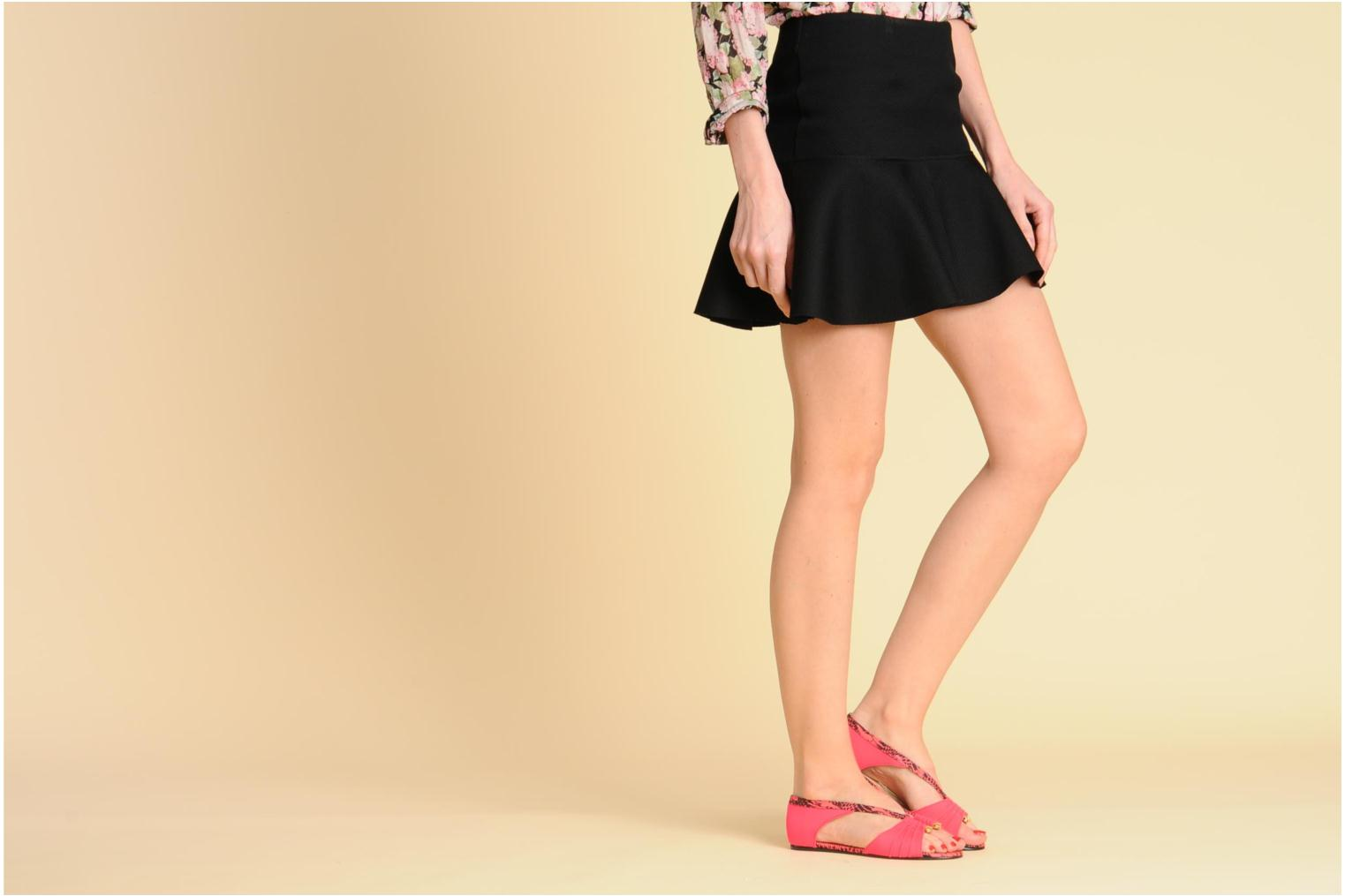 Sandals MySuelly Romane Pink view from underneath / model view