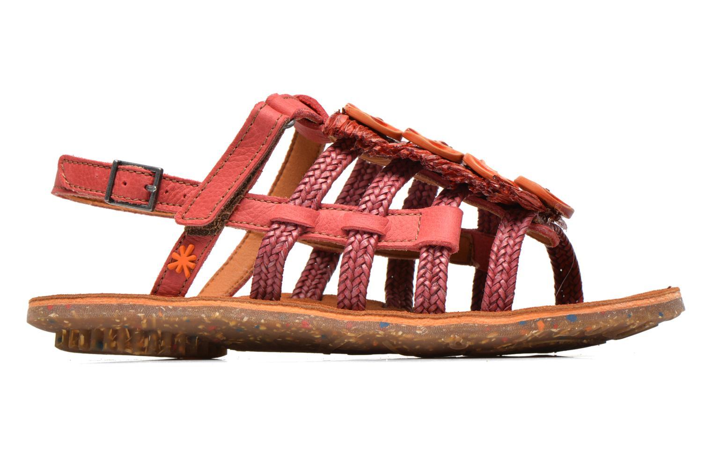 Sandales et nu-pieds Art Zurich 036 Rouge vue derrière