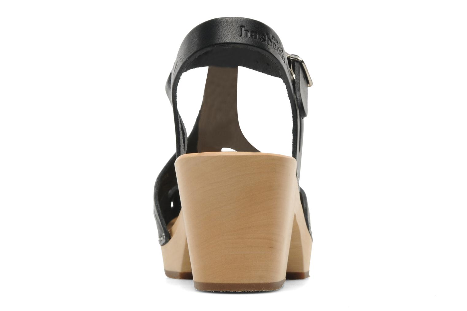 Sandals Swedish Hasbeens Lacy Sandal Black view from the right