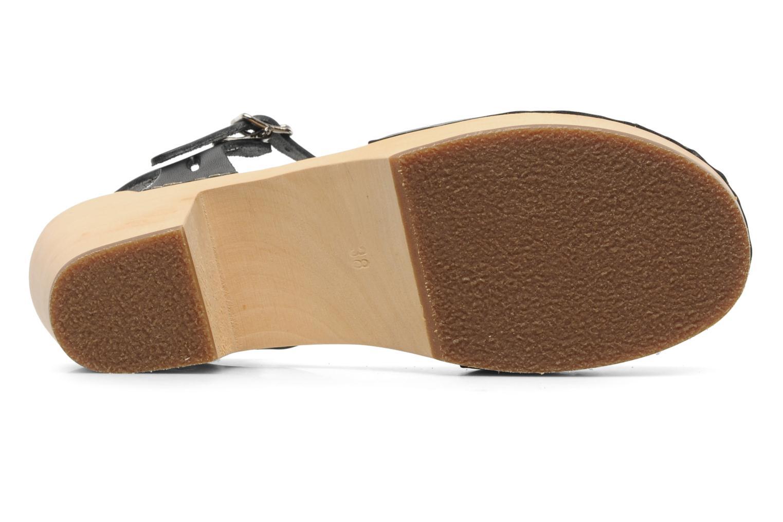Sandalen Swedish Hasbeens Lacy Sandal Zwart boven