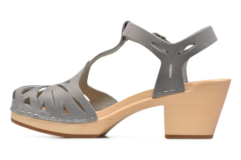 Sandales et nu-pieds Swedish Hasbeens Lacy Sandal Gris vue face