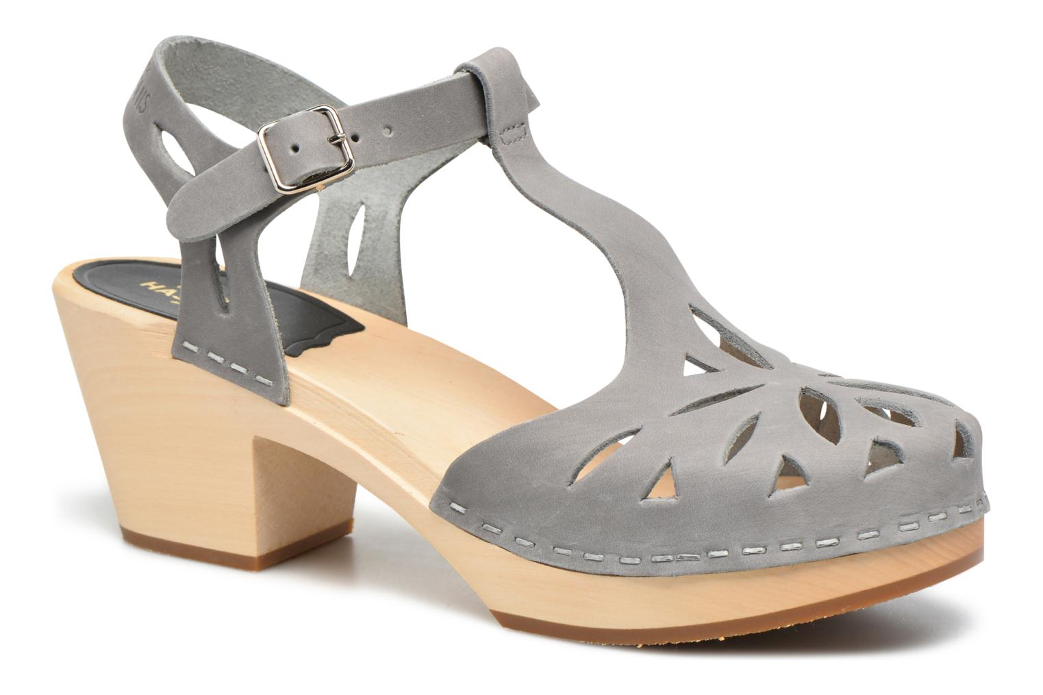 Lacy Sandal Dark Grey Nubuck