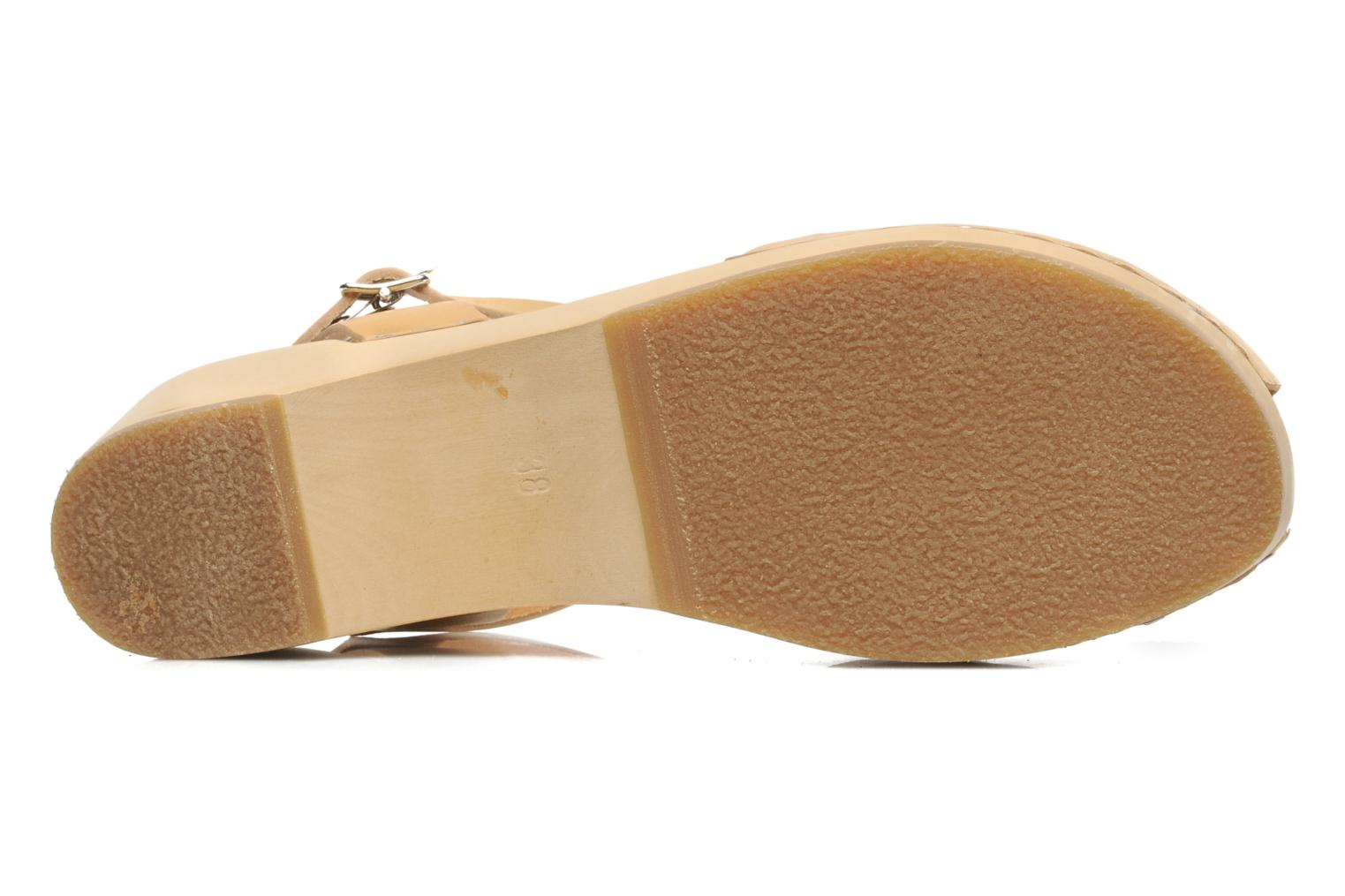 Sandals Swedish Hasbeens Ornament clog Beige view from above