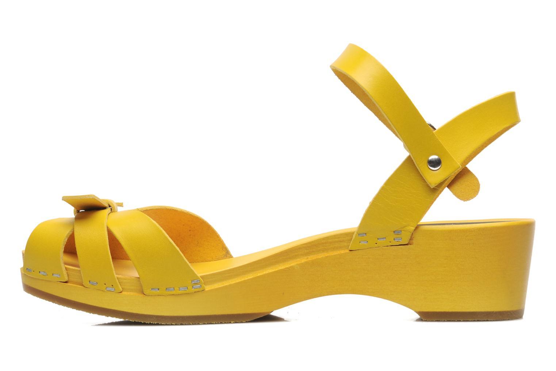 Sandalen Swedish Hasbeens Papillon Geel voorkant