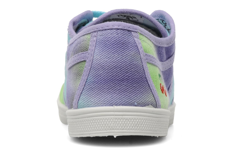 Sneaker Le temps des cerises Basic 02 Tie & Dye mehrfarbig ansicht von rechts