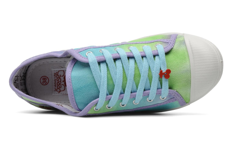 Sneaker Le temps des cerises Basic 02 Tie & Dye mehrfarbig ansicht von links