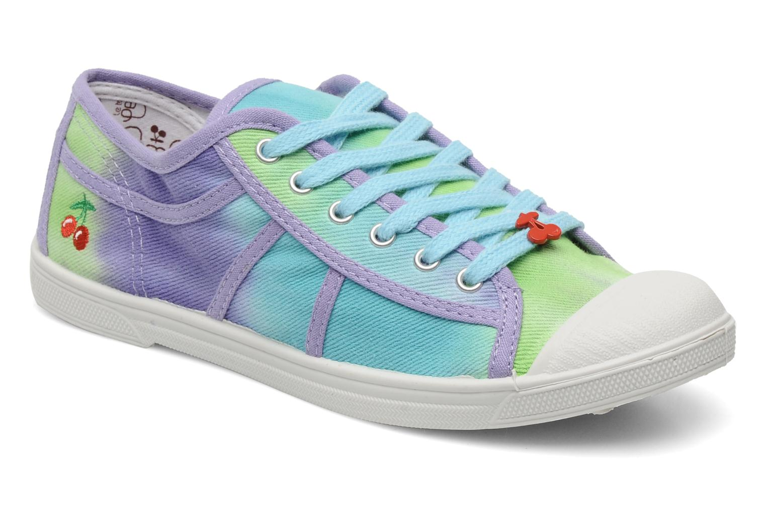 Sneakers Le temps des cerises Basic 02 Tie & Dye Multicolor detail